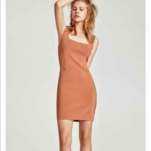 Strapped dress with seam at the waist, NWT